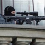 Во Франции полицейский открыл огонь во время выступления президента