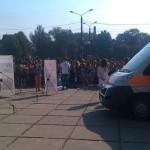 На Соборной площади черновцов учат оказывать первую медицинскую помощь